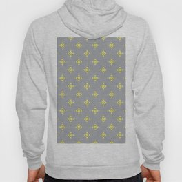 Ornamental Pattern with Grey and Lemon Yellow Colourway Hoody