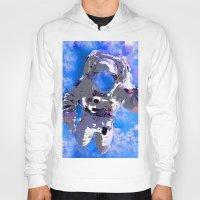 astronaut Hoodies featuring Astronaut  by Saundra Myles