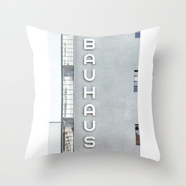 Bauhaus Building in Dessau Throw Pillow