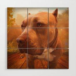 ARTHUR (shelter pup) Wood Wall Art