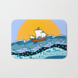 Sailing the High Seas Bath Mat