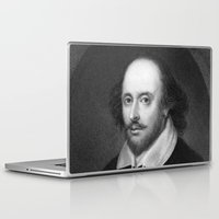 shakespeare Laptop & iPad Skins featuring William Shakespeare by Palazzo Art Gallery