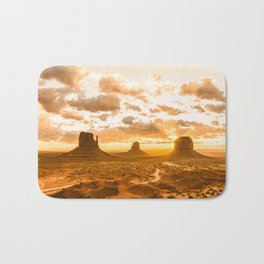 Southwest Wanderlust - Monument Valley Sunrise Nature Photography Bath Mat