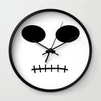 skeletor Wall Clocks featuring Skeletor by The Wellington Boot