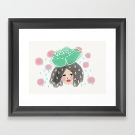 Cabbage Rain Framed Art Print