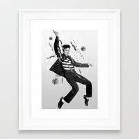 elvis presley Framed Art Prints featuring Elvis Presley by Michael Ostermann