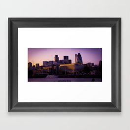 London Town Framed Art Print