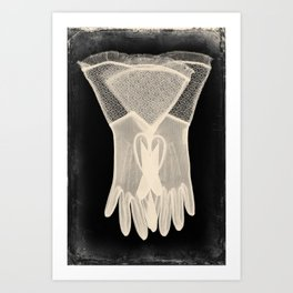 X-Ray of Vintage Gloves Art Print