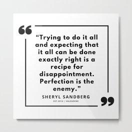 12  | Sheryl Sandberg Quotes | 190902 Metal Print