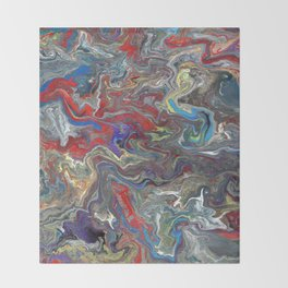 Abstract Oil Painting 28 Throw Blanket