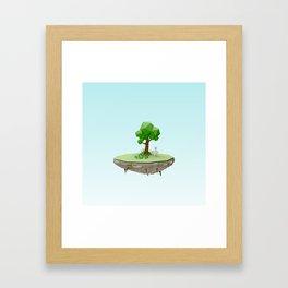 Low Poly Bunny Island Framed Art Print