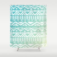 tribal Shower Curtains featuring Tribal  by Julia