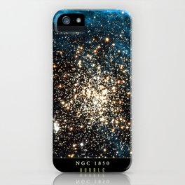NASA Hubble Space Telescope Poster - NGC 1850 iPhone Case