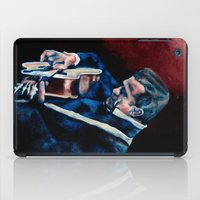 johnny cash iPad Cases featuring Johnny Cash by Nicole Kallenberg