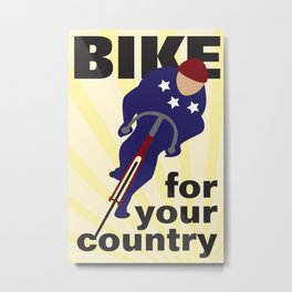 Bike For Your Country Metal Print