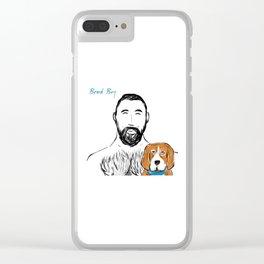 Beard Boy Pup 1 Clear iPhone Case