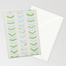 Chevron pale Stationery Cards