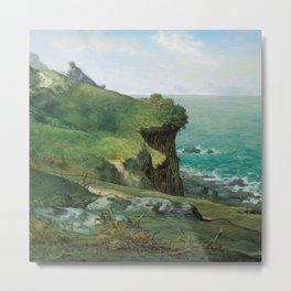 """Jean-François Millet """"Cliffs of Gréville"""" Metal Print"""