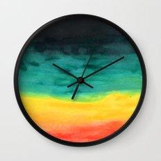 Darkness in the Horizon Wall Clock