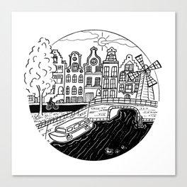 Memories of Amsterdam Canvas Print