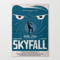 skyfall Canvas Prints featuring SKYFALL by Alain Bossuyt