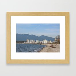View of Vancouver from Kits Beach Framed Art Print