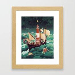 Light of freedom Framed Art Print