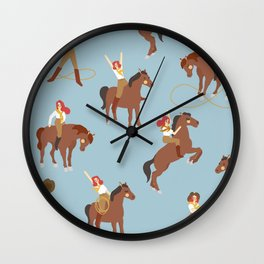 You can't tame a cow-girl! Wall Clock