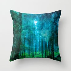 Far from roads #End of the day Throw Pillow
