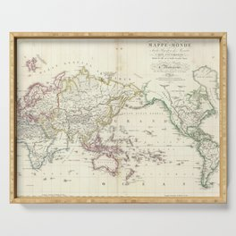 Vintage Map of The World (1816) Serving Tray