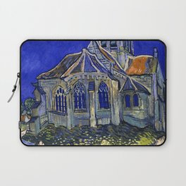 "Vincent Van Gogh ""The Church In Auvers Sur Oise"" Laptop Sleeve"