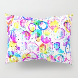 Sweet As Candy - colorful watercolor pattern by Lo Lah Studio Pillow Sham
