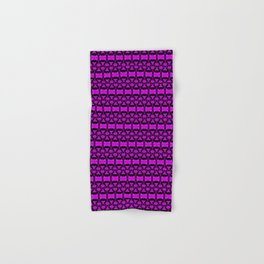 Dividers 02 in Purple over Black Hand & Bath Towel