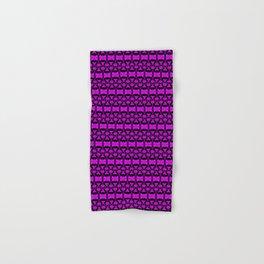Dividers 02 in Purple over Black Hand & Bath Towel