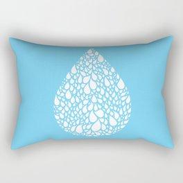 tear drop Rectangular Pillow