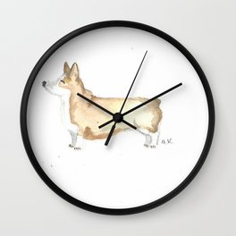 Quirky Corgi Wall Clock