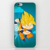 goku iPhone & iPod Skins featuring Goku SSJ  by Juan David Giraldo Ramirez