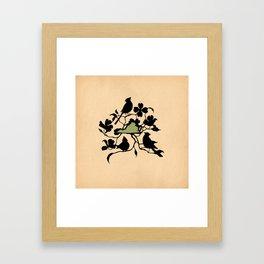 Virginia - State Papercut Print Framed Art Print
