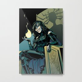 Goddess of Death Metal Print