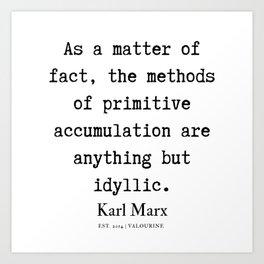 66  | Karl Marx Quotes | 190817 Art Print