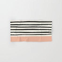 Peach x Stripes Hand & Bath Towel