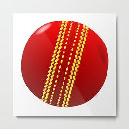 Cricket Ball Metal Print