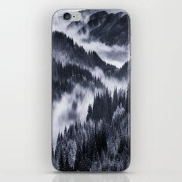 Misty Forest Mountains iPhone Skin