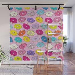 Donuts Pink Dreams Wall Mural