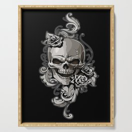 Skull and Rose Serving Tray