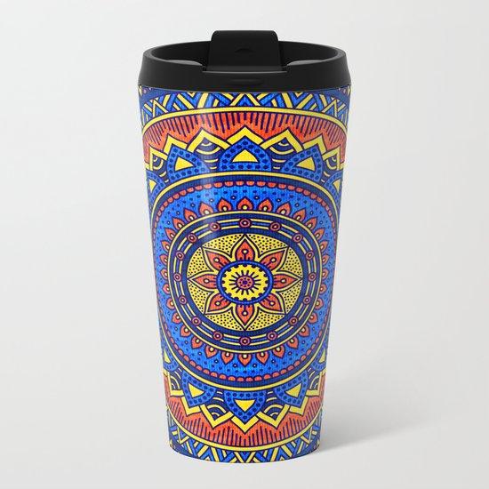 Hippie mandala 57 Metal Travel Mug