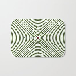 The maze to your heart Bath Mat