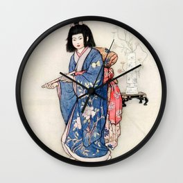 """The Haunted Flute"" by Warwick Goble Wall Clock"