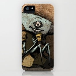 Anvil head eat french fries in the corner. iPhone Case