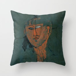 Amadeo Modigliani / Tête rouge - 1915 Throw Pillow